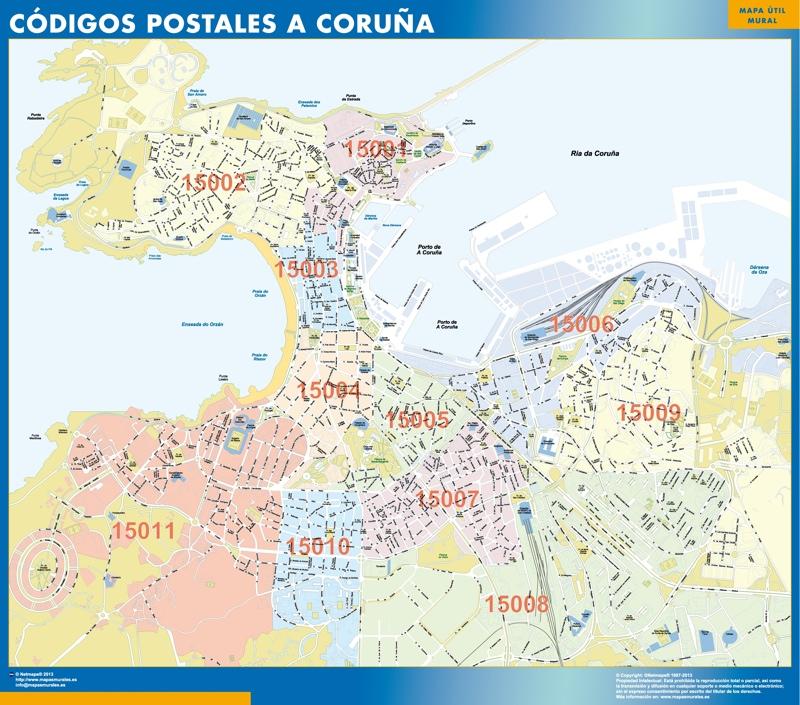 A Coruña Mapa Gigante