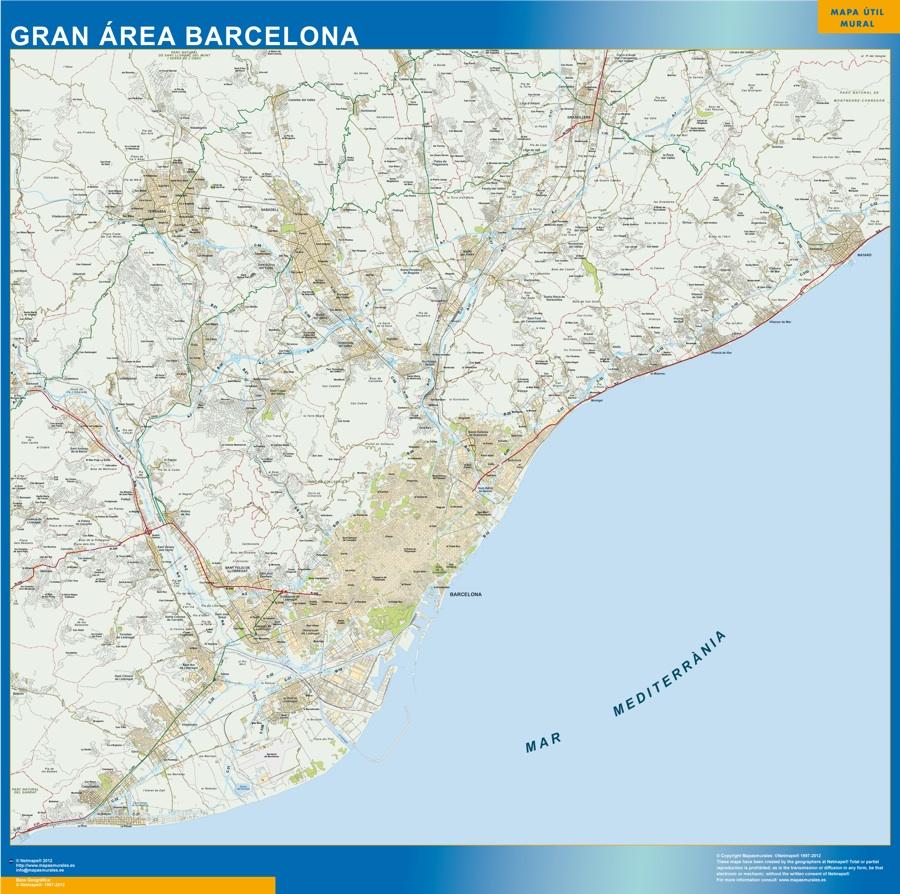 Mapa Gran Area Barcelona