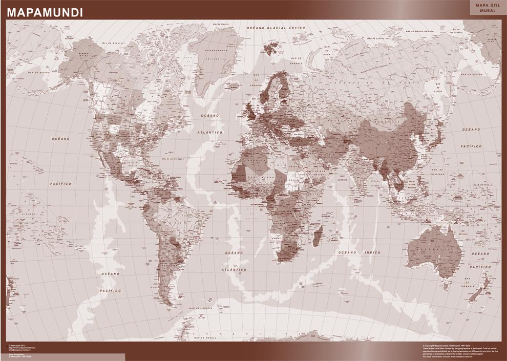 Mapamundi Sepia