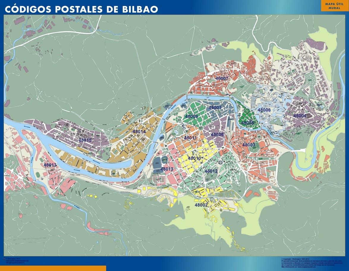 Mapa Bilbao Códigos Postales
