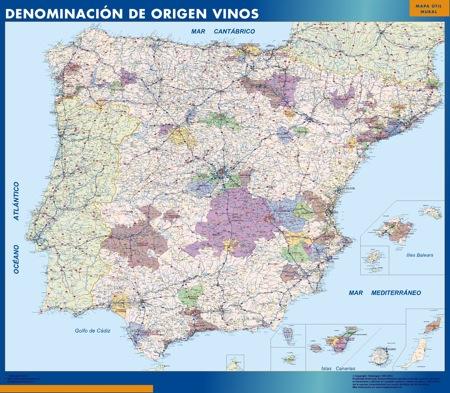 mapa espana DO vino