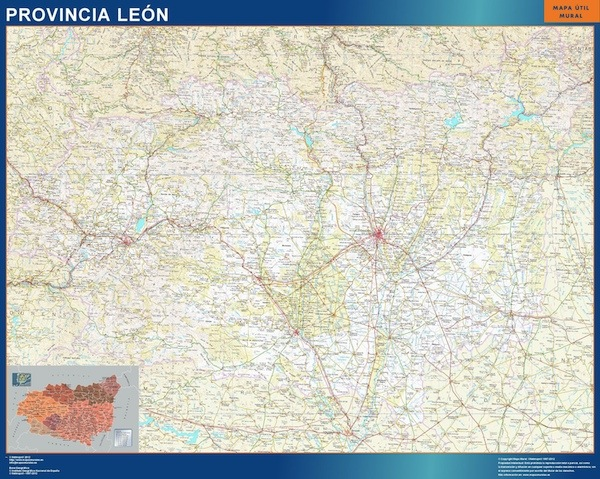 mapa gigante leon