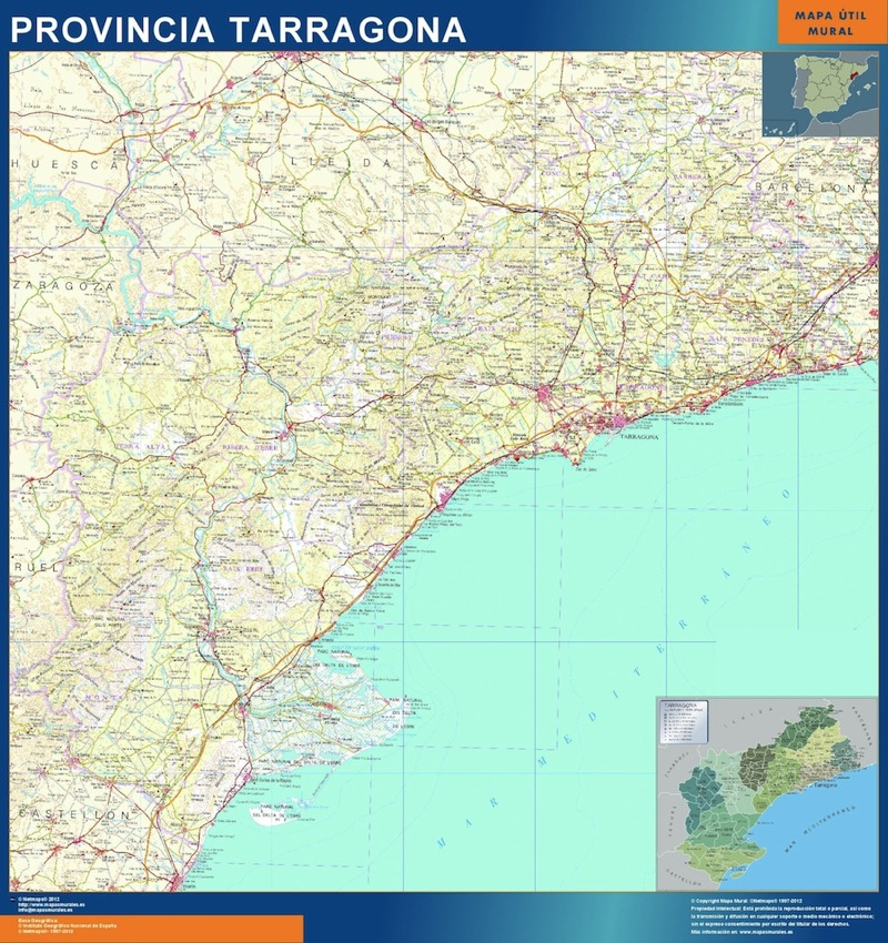 mapa gigante tarragona
