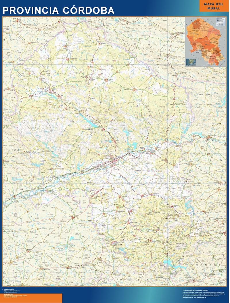 Mapa Pueblos De Cordoba.Pueblos Cordoba
