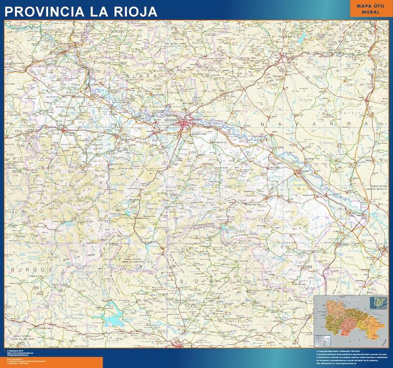 La Rioja Mapa Pueblos Ardusat Org