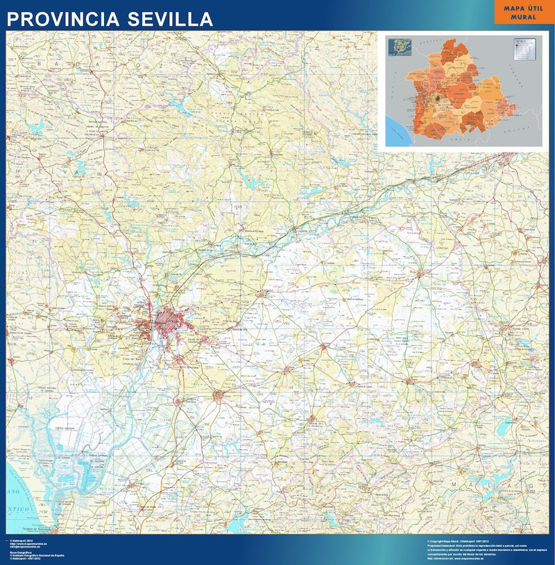 Pueblos De Sevilla Mapa.Pueblos Sevilla
