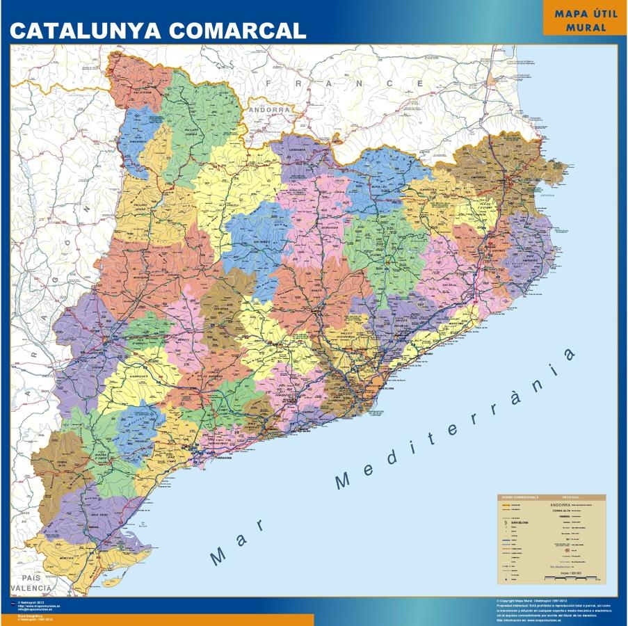 Mapa Gigante Cataluna Comarcal