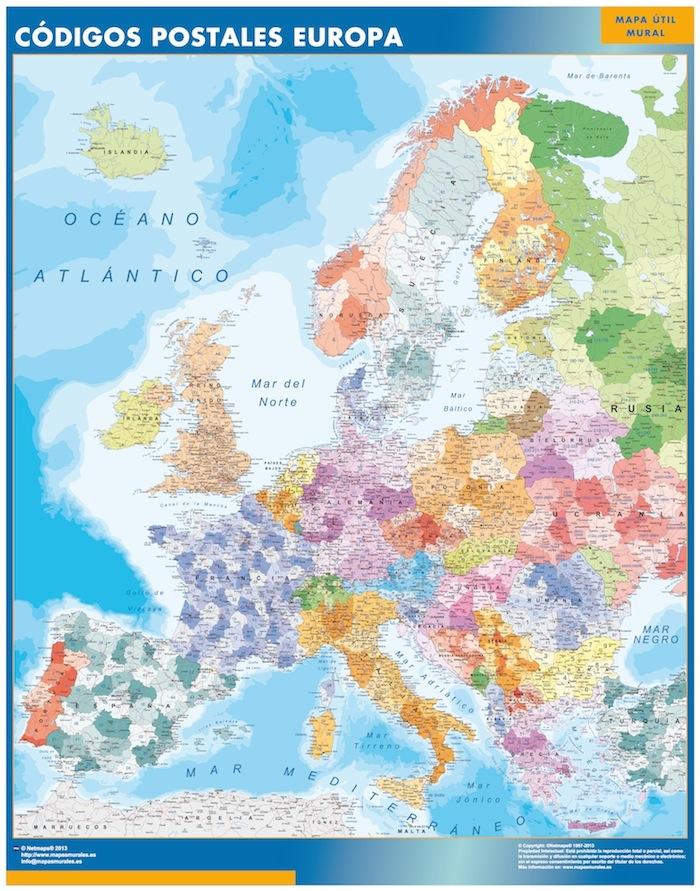 Mapa Gigante Europa Codigos Postales