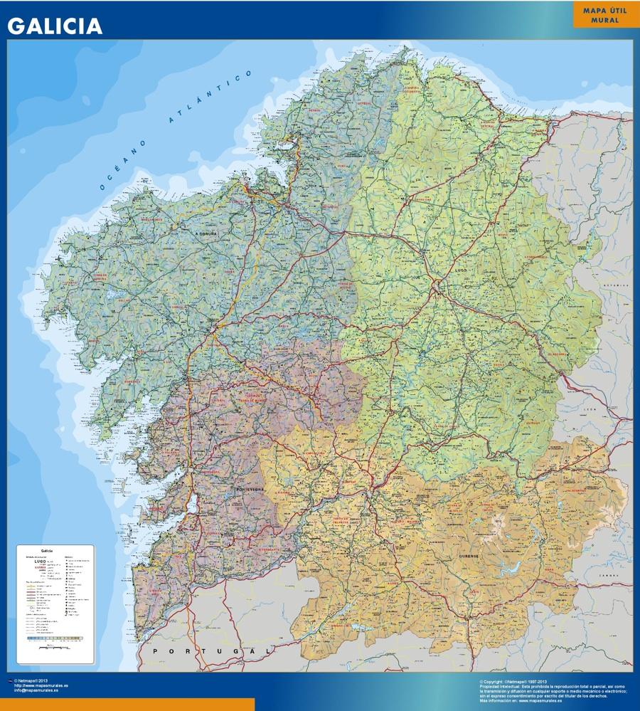 Mapa Gigante Galicia