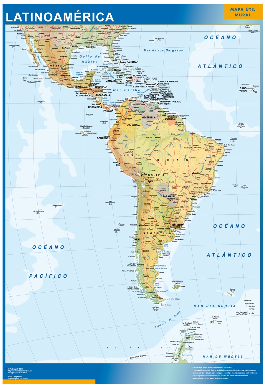Mapa Gigante Latinoamerica
