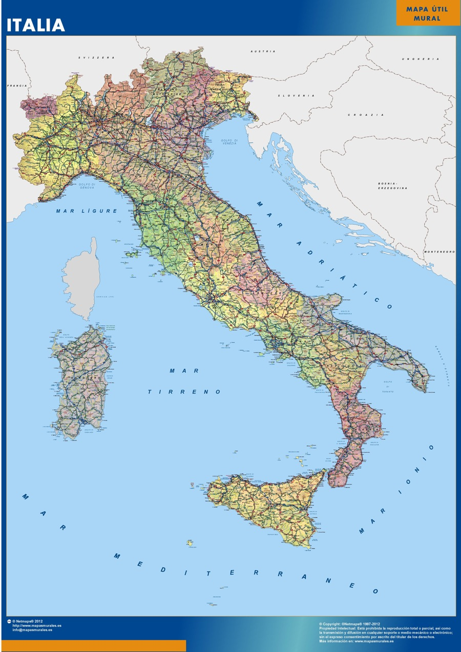 Mapa Italia gigante