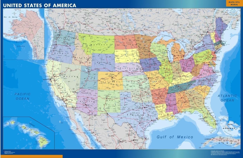 Mapa Estados Unidos de America Usa gigante